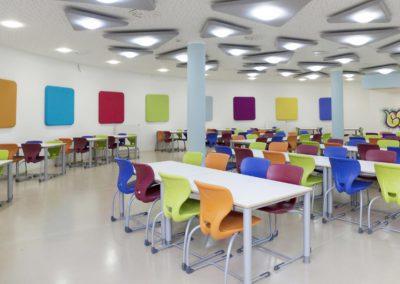 Odhlučnění školní jídelny