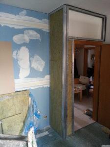 Odhlučnění stěny - montáž zádveří