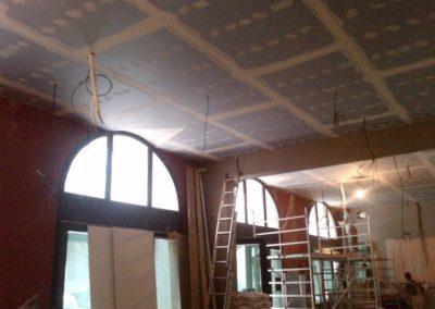 Odhlučnění stropu restaurace