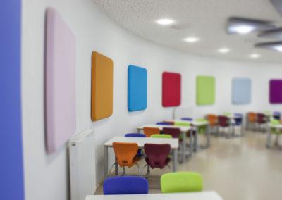 Akustika ve školní jídelně