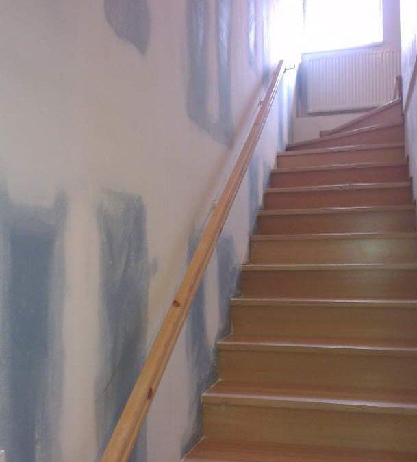 Odhlučnění stěny u schodiště