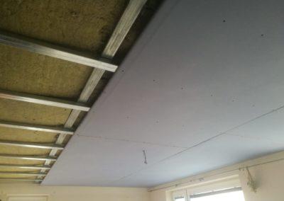 Neprůzvučný strop v novostavbě Uhříněves