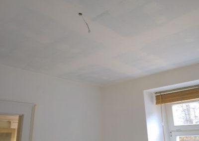 Odhlučnění bytu - první malba