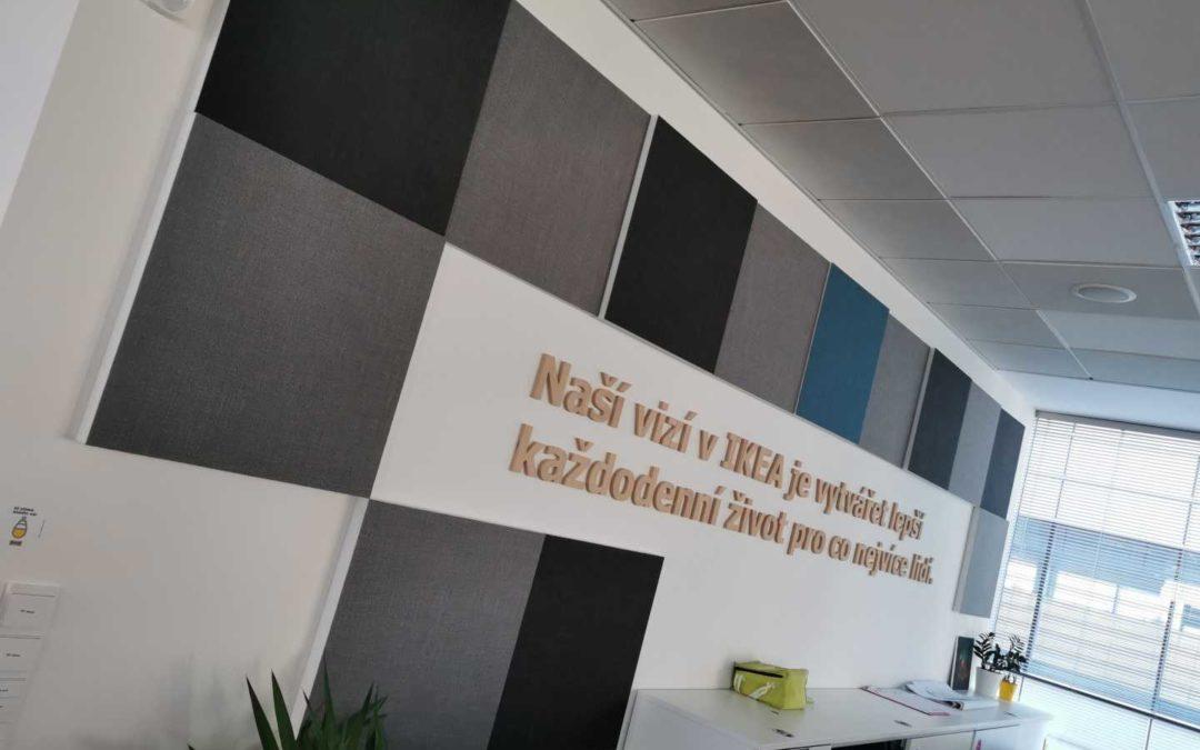 Akustika kancelářských prostor ředitelství Ikea vPraze